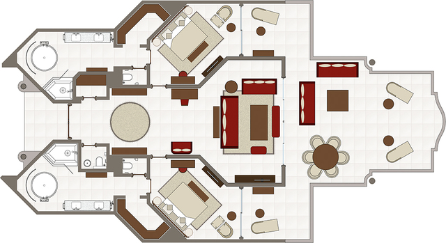 Royal palm beachcomber luxury resort overview mauritius for Rv suites floor plan